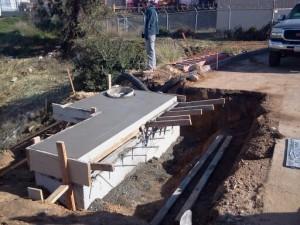 Concrete Construction Flood Control Project