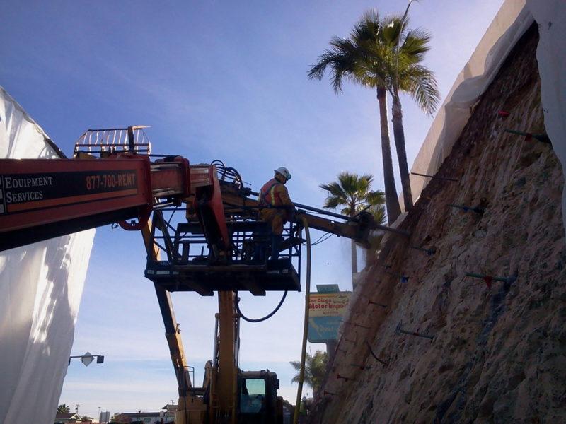 Municipal Retaining Wall Repair Construction