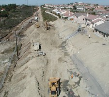 Landslide Repair Foundation Stabilization Ground Force Helical Pier Tieback Contractors