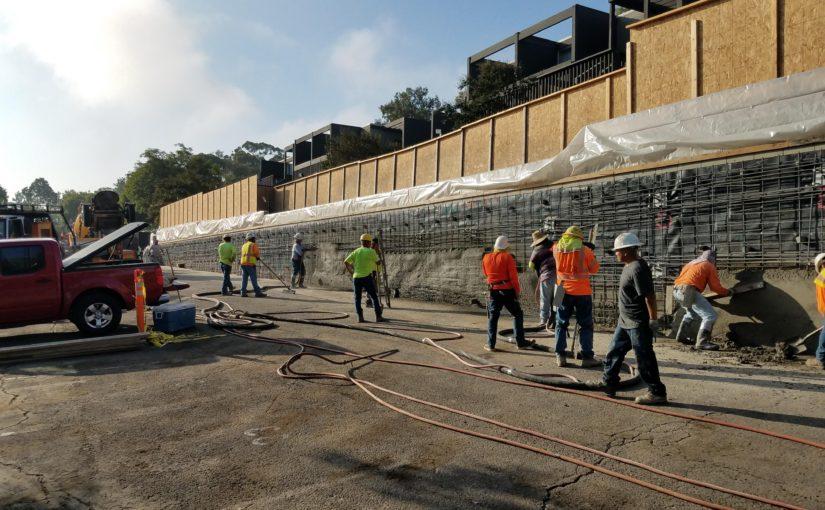 shotcrete concrete retaining walls california
