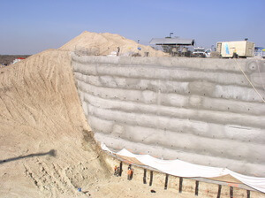 Earth Retention Soil Nail Wall