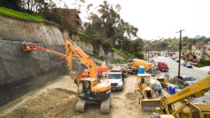 Commercial Shotcrete Wall Construction Ground Force Geo Construction