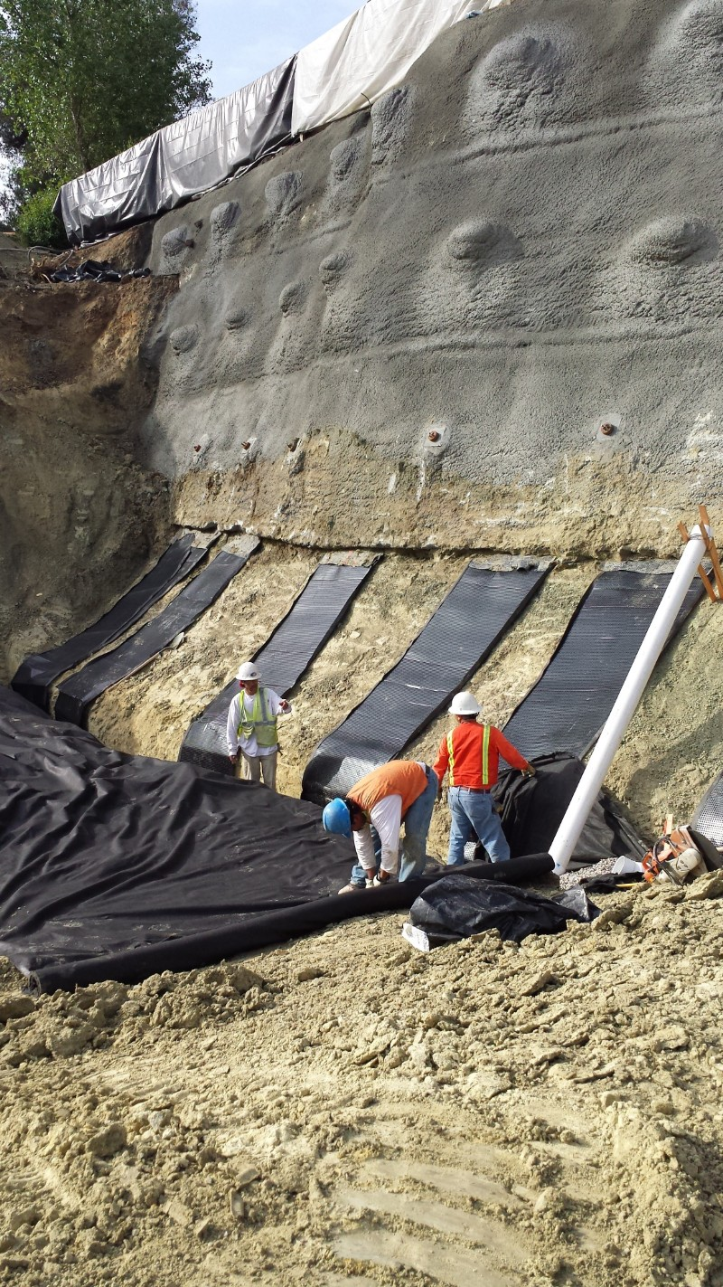 Landslide stabilization with shotcrete shoring rancho santa fe Ground Force Geo Tech Geo Construction