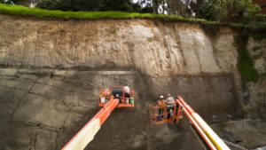 Shotcrete Wall Construction Earth Retention Ground Force Geotech Geo Construction