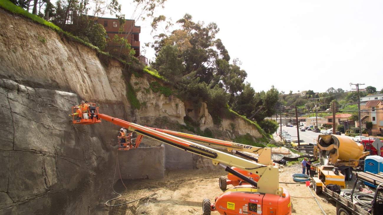 Shotcrete Wall Construction Ground Force Geotech Geo Construction