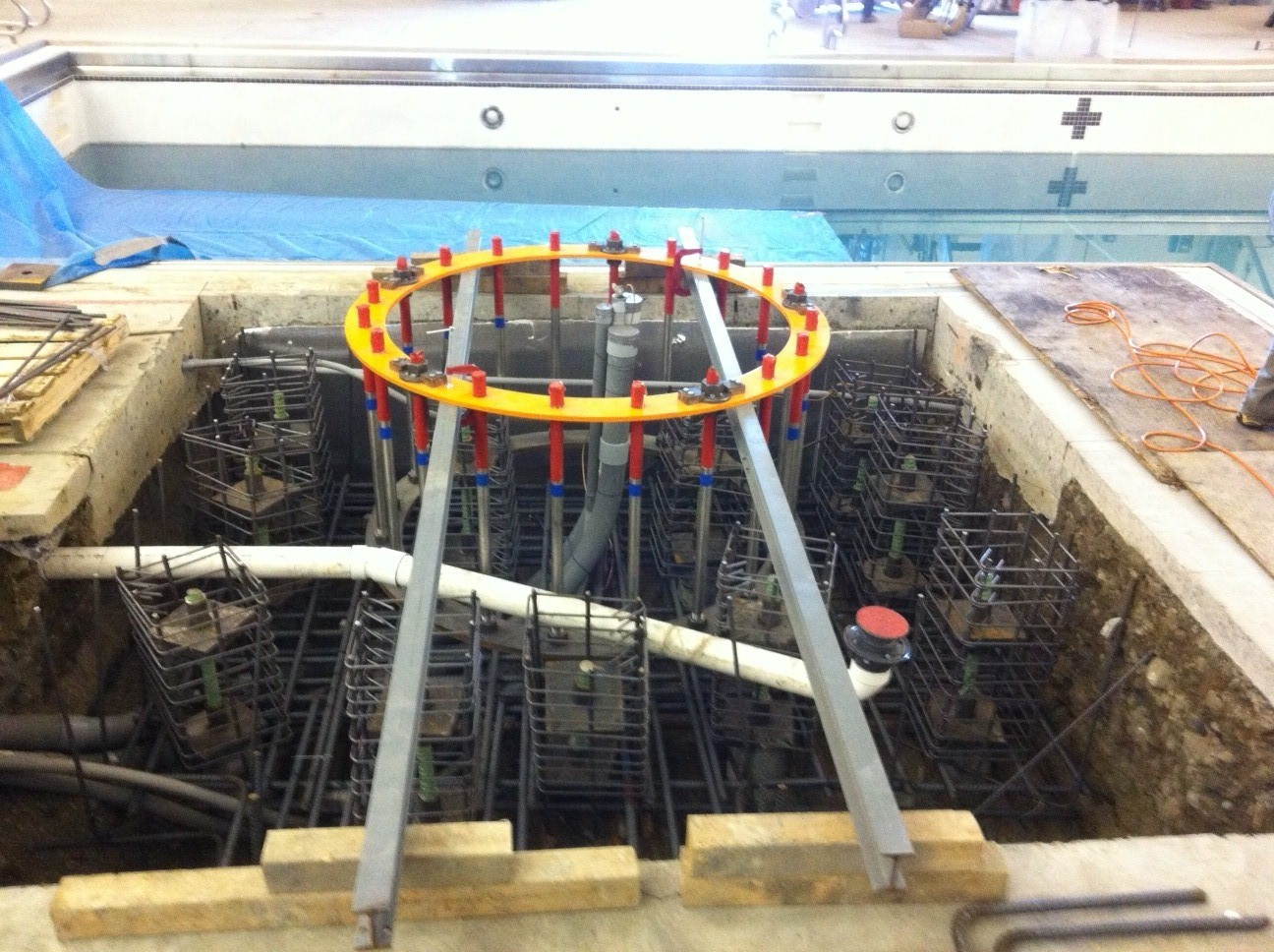 deep foundation with micropiles for the US Navy Ground Force Geo Tech Geo Construction